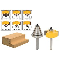 1lots Rabbet Router Bit with 6 Bearings Set -1/2 H - 1/4  Shank