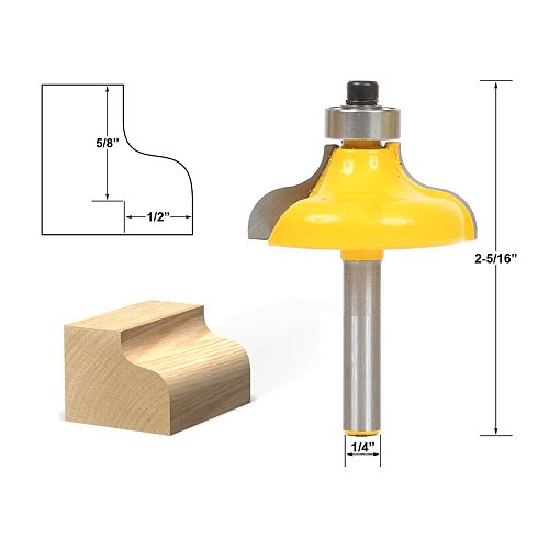 1pcs Ogee Edging and Molding Router Bit - Large - 1/4  Shank