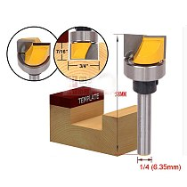 1pcs 1/4*3/4*11 with bearing cleaning bottom wood working endmill router bits