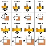Rabbeting & Slotting Router Bit ,  woodworking cutter woodworking bits