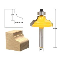 1pcs Ogee Flute Edging and Molding Router Bit - Large - 1/4  Shank
