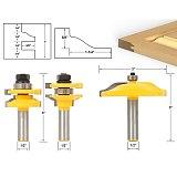 3pcs/lot Bit Raised Panel Cabinet Door Router Bit Set - 1/2  Shank