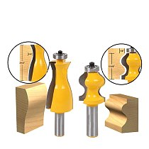 2 Bit Jewelry Box Side and Foot Mold Router Bit Set - 1/2  Shank Woodworking cutter Tenon Cutter for Woodworking Tools