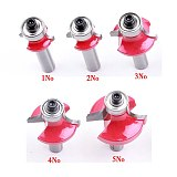 5pcs/set High Quality Roundover Bit with Bearing 8mm shank Dovetail Router Bit Cutter wood working