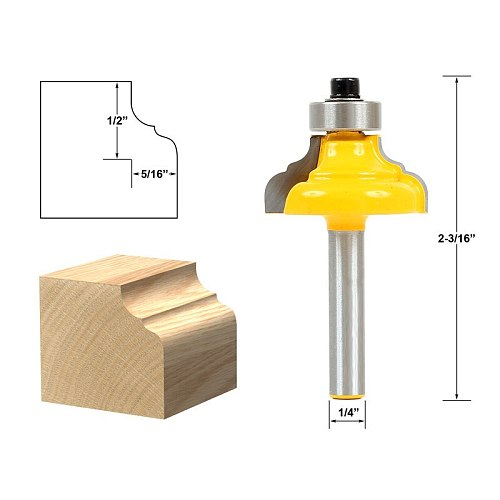 1pcs Classical Ogee Edging and Molding Router Bit Small - 1/4  Shank