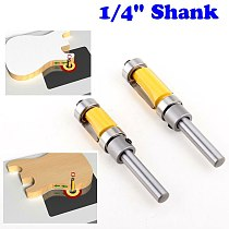 2pcs Flush Trim Router Bit Top & Bottom Bearing 1/4'' Shank Woodworking Tool woodworking router bits