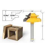 New 1PC Small Lock Miter Router Bit Anti-kickback 45 degree 1/2 inch Stock 1/2 inch Shank Tenon Cutter for Woodworking Tools