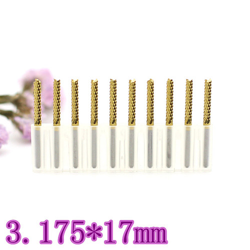 3.175mm 10PCS  Titanium coated strawberry PCB milling cutter corn tooth metal tungsten carbide CNC engraving router woodworking
