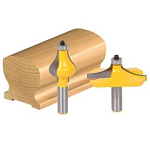 2pcs/lot Bit Handrail Router Bit Set - Standard Flute hand 1/2 shank