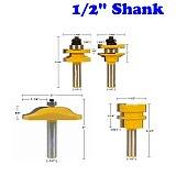 Rail & Stile Cabinet Door Router Bit Set 4 Bit Ogee -1/2  Shank door knife Woodworking cutter Tenon Cutter for Woodworking Tools