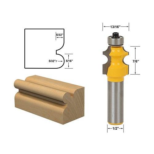 1pcs 5/32  Radius Corner Bead/Beading Router Bit - 1/2  Shank