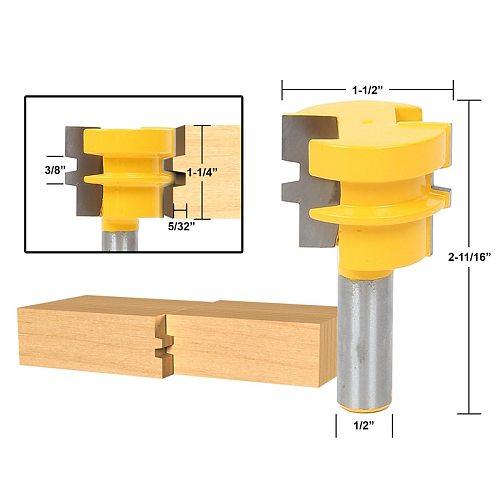 1pcs Glue Joint Router Bit - Medium Reversible - 1/2  Shank
