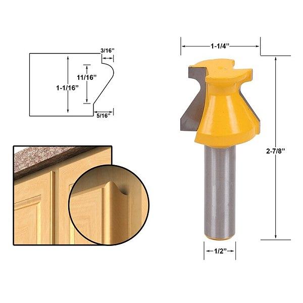 1pcs Door Lip & Finger Grip Router Bit - 1/2  Shank wood cutter Shimming Instructions