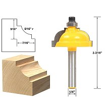1pcs Classical Cove Edging Router Bit - 5/16  Radius -1/4  Shank