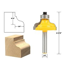 1pcs Ogee Fillet Edging and Molding Router Bit - Medium - 1/4  Shank
