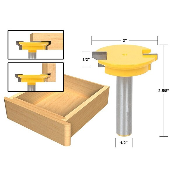 1pcs Drawer Front Joint Router Bit - Reversible - 1/2  Shank
