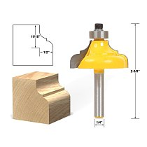 1pcs Classical Ogee Edging and Molding Router Bit Large - 1/4  Shank