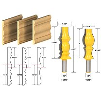 2pcs/set Bit Crown Molding Router Bit Set - 1/2  Shank