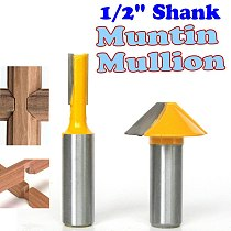 2 pc 1/2  SH Window grill Muntin/Mullion Cutter Router Bit Set woodworking cutter Tenon Cutter for Woodworking Tools