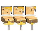 3pcs/set Bit Table Edge Thumbnail Router Bit Set - 1/2  Shank