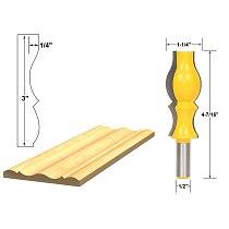 1pcs Crown Molding Router Bit - 1/2  Shank Cutting Height: 3 , Cutting Depth: 1/4