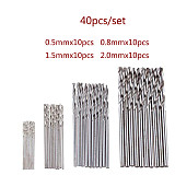 High Speed Steel HSS Mini Twist Drill Bits Set,  Straight Shank for Woodworking Aluminum PCB Plastic