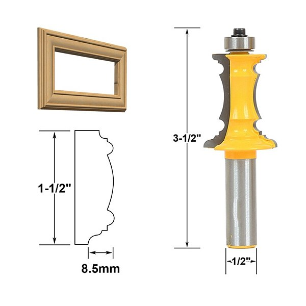 1pcs Mitered Drawer Front Molding Router Bit - 1/2  Shank 12.7mm