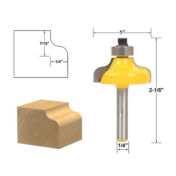 1pcs Ogee Edging and Molding Router Bit - Small - 1/4  Shank