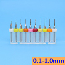 tungsten carbide micro drill 0.1-1.0mm 10pcs CNC router wood metal drill bit PCB drill set