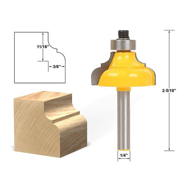 1pcs Classical Ogee Edging and Molding Router Bit Medium - 1/4  Shank