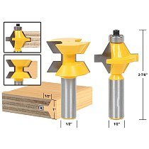 2pcs/lot Matched Tongue and Groove Router Bit Set- Edge Banding 1/2 shank