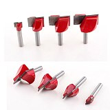 1pc CNC Carbide End Mill Tool 3D Woodworking Insert Router Bit Tungsten Cleaning Bottom End Milling Cutter Woodworking Cutter