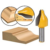 1pcs Panel Raiser Router Bit - Vertical - Ogee Bead - 1/2  Shank
