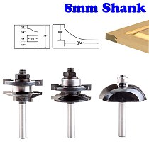 3pcs 8mm Shank Raised Panel Cabinet Door Router Bit Set  Woodworking cutter woodworking router bits carbide bit door knife