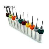 10Pcs PCB Mini Drill Bit Carbide Micro Drill Bit PCB Printed Circuit Board Drill Bit Set PCB Drill 0.1mm To 1.0 Mm