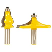 2PCS/SET Bit Handrail Router Bit Set - 1/2  Shank