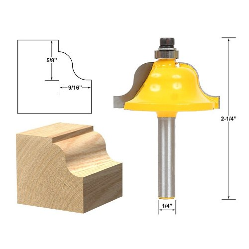 1pcs Roman Ogee Edging and Molding Router Bit - Large - 1/4  Shank