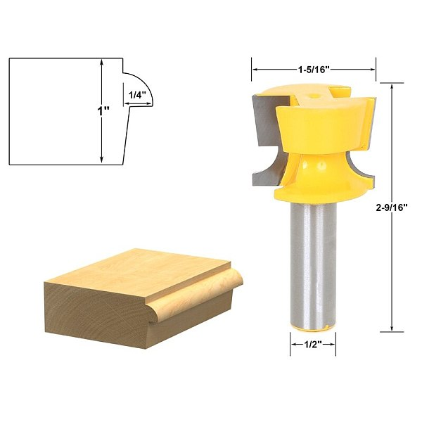 1pcs Cabinet Door Lip With Tapered Back Rabbet Router Bit - 1/2  Shank