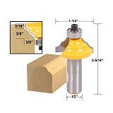 1pcs Double Round-Over Edging Router Bit - 1/2  Shank
