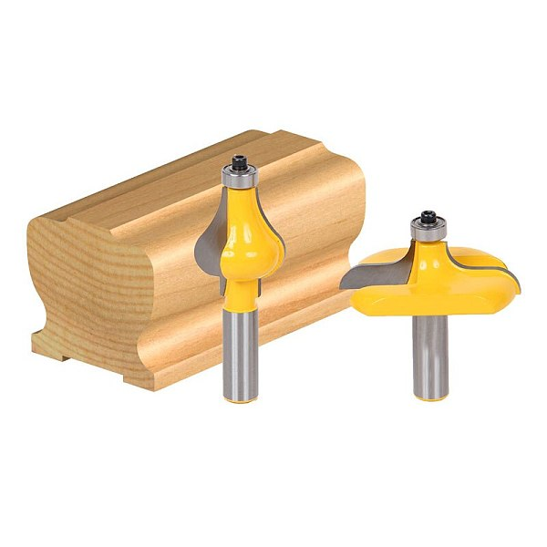 2pcs/set Bit Handrail Router Bit Set - Wavy/Flute - 1/2  Shank
