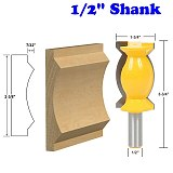 1pc Crown Molding Router Bit -1/2  Shank Tenon Cutter for Woodworking Tools