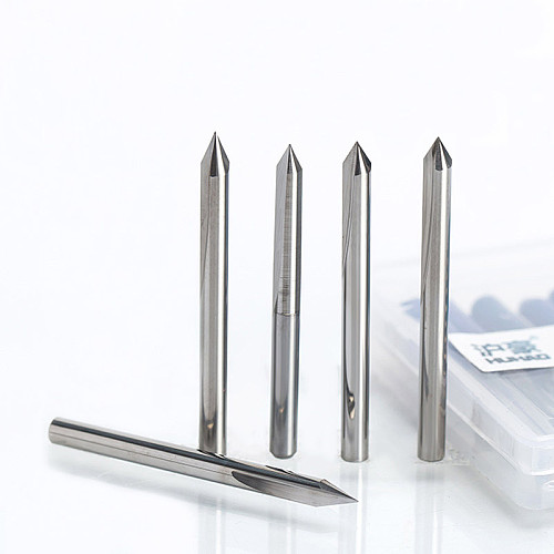 1PC 3.175mm 2 Flutes Straight Engraving Bits deep cutter For wood hardwood CNC Carving Bits Carving machine tools end mill