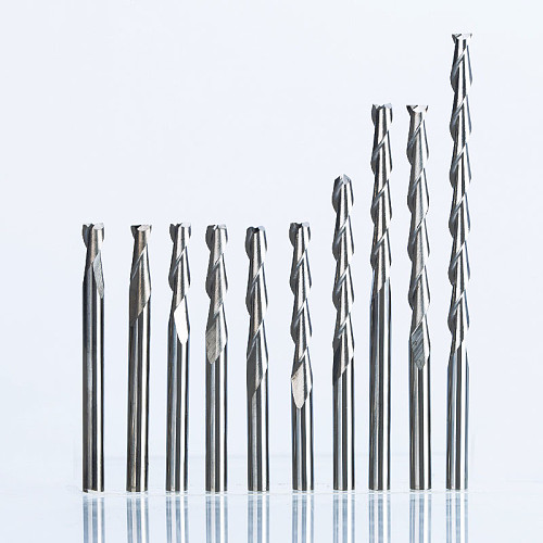 5pcs/lot  Shank 3.175mm 2 Flute Spiral Router Bit for Wood CNC End Mill Tungsten Carbide PCB Milling Cutter