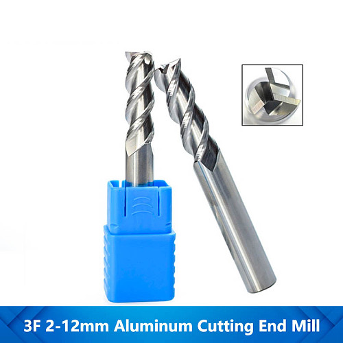 Aluminum Cutting End Mills 3 Flute End Mill CNC Milling Bit Spiral Router Bit Machine Cutter Tungsten Carbide Router Bits