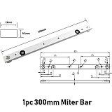 Woodworking Aluminium Alloy Miter Track Slot or Miter Slider Bar Table Saw Miter Gauge Rod T track Slot Workbench DIY Tools