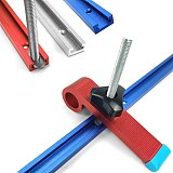 T Screw Fixture Slot Aluminium Woodworking T-slot Miter Track Jig Miter Track Stop for Router Table Bandsaws DIY Tools 300-800MM