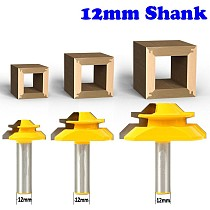 1PC 12mm Shank Industrial Quality Medium Lock Miter Router Bit with 45Degree 3/8-1 Inch Stock woodworking milling cutter
