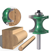 1PCS 8mm Shank Bullnose Half Round Bit Endmill Router Bits Wood 2 Flute Bearing Woodworking Tool Milling Cutter