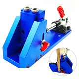 Pro Pocket 2 Hole Jig Joinery Drilling System Kit Professional Woodworking Tool