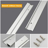 T Track Aluminium 45 Type Woodworking T-slot Miter Track Jig Miter Track Stop for Router Table Bandsaws DIY Tools 300-800MM